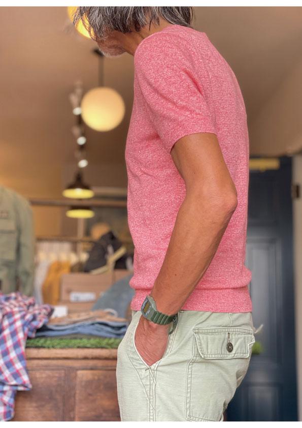 Gran Sasso Linen Cotton Short Sleeve Knit