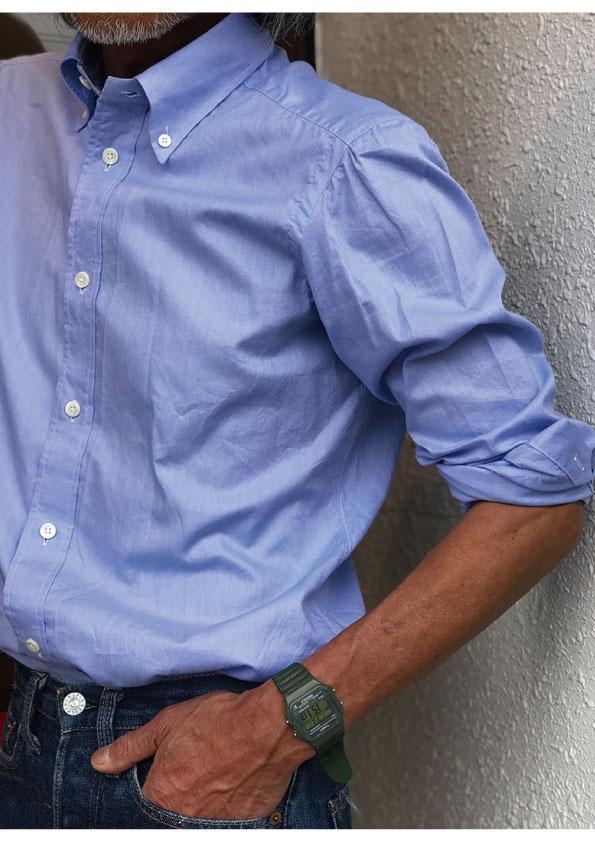AVINO 4Hand-Sewn Royal Oxford ButtonDownShirt