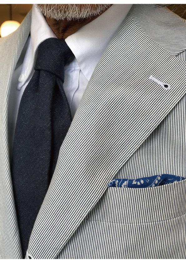 Drakes Linen Plain Tie