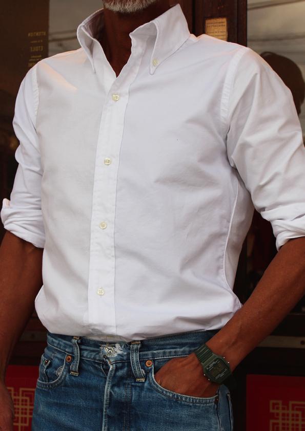 別注米国製INDIVIJUALIZED SHIRTS オックスフォードクレイジーパターン BDシャツ