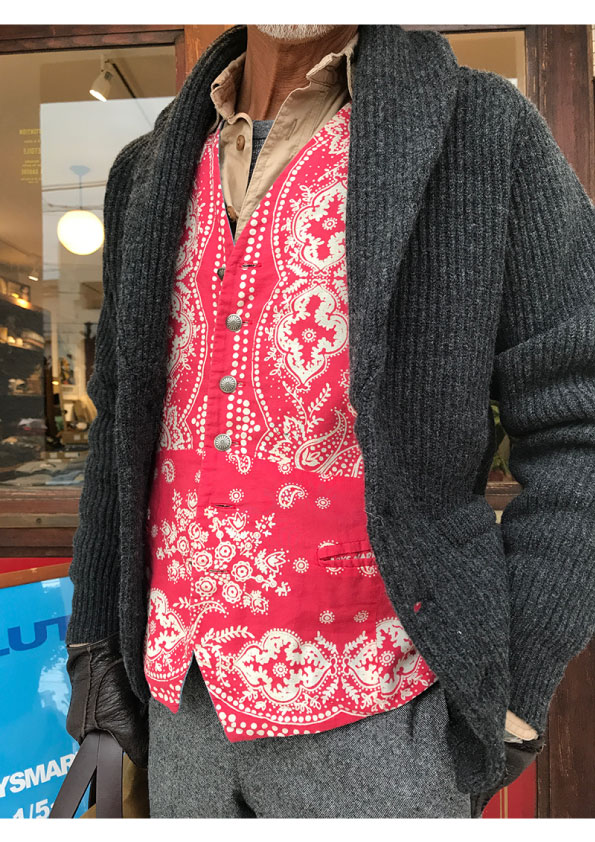 WILLIAM LOCKIE BESPOKE SHAWL COLOR CARDIGAN