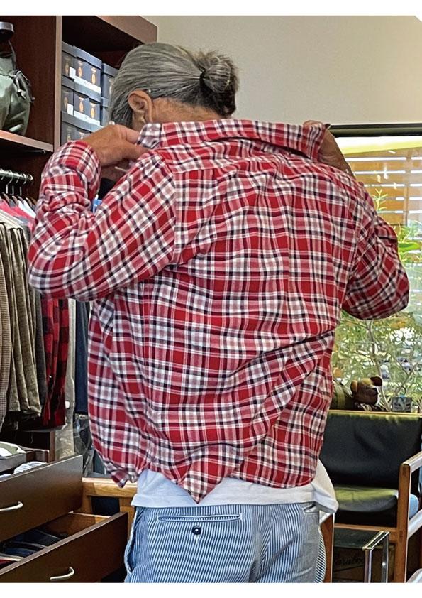 Dead stock Cotton Flannel Fabric Work Shirt
