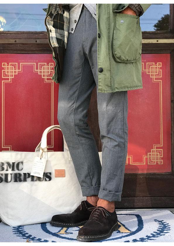 INCOTEX BESPOKE CHINOLANA 5POCKET TROUSERS
