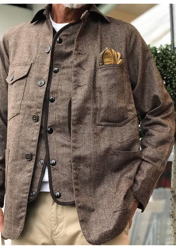 DEJAVU ICONIC COVERALLS Loro Piana dead stock fabric